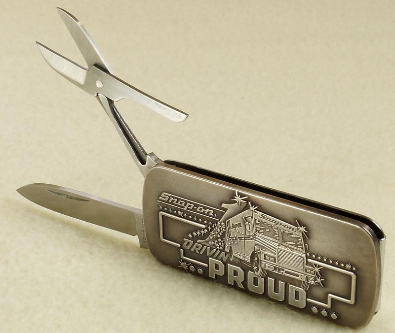 RD26030 Vintage Kershaw 6600DP Money Clip Knife Snap-on Tools Drivin Proud Truck DSC02954