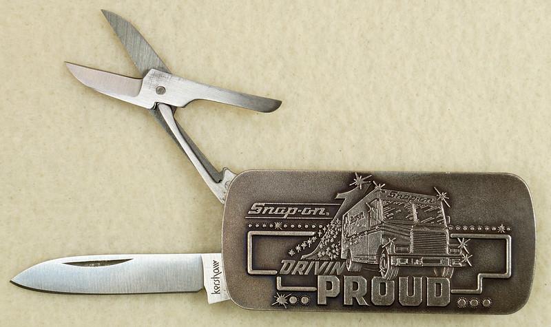 RD26030 Vintage Kershaw 6600DP Money Clip Knife Snap-on Tools Drivin Proud Truck DSC02950