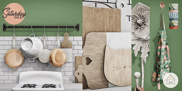 hive // wall pot rack, hanging apron, & cutting boards | saturday sale