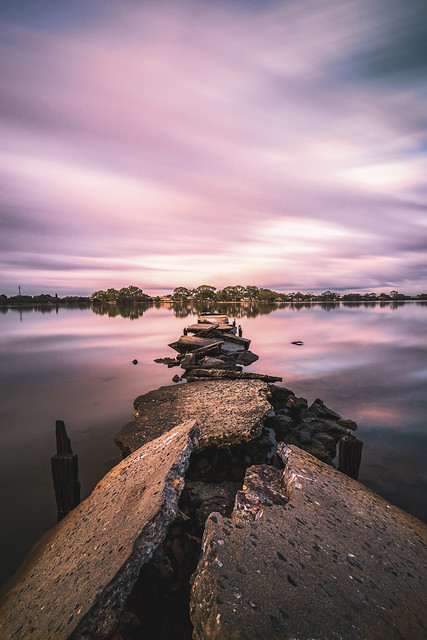 Broken Jetty on the Canning River