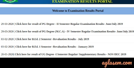 RUK Exam Result Portal