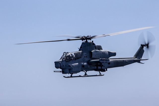 Marines conduct aerial gunnery training over San Clemente Island