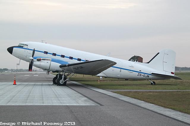 ZS-OJM - 1944 build Douglas DC-3 (Aero Modification Turbo conversion), later delivered to Aliansa Colombia as HK-5016