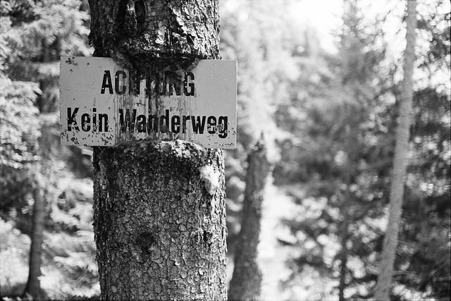 Kein Wanderweg