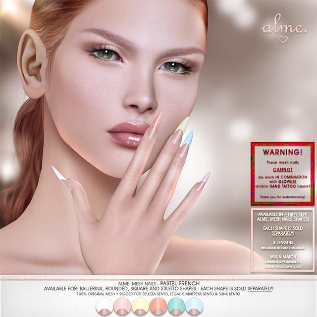"""Alme. for The Saturday Sale - """"Alme Mesh Nails// Pastel French"""""""