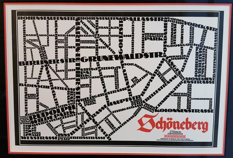 Schöneberg, Letterpress Map