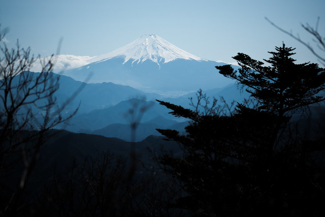 mt.fuji from the peak of mitou-san