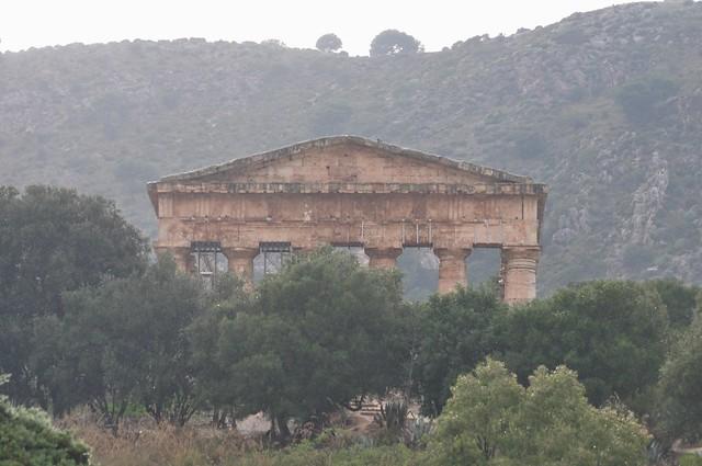 Au temps du déluge, temple d'Héra, Ve siècle avant JC, Ségeste, Calatafimi-Segesta, proivnce de Trapani, Sicile, Italie.