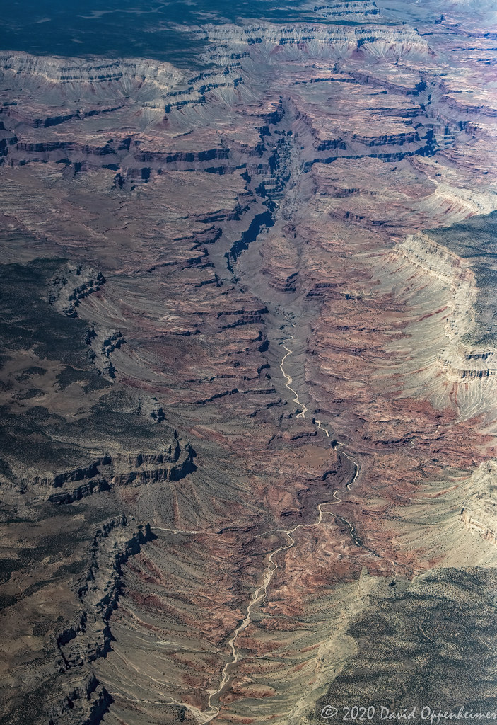 Mohawk Canyon in Grand Canyon National Park Aerial View