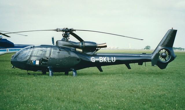 Aerospatiale SA341 Gazelle G-BKLU Silverstone 16/07/89