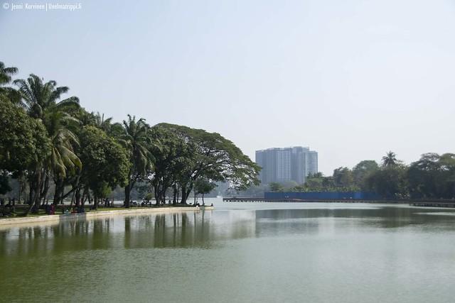 Järvimaisema Yangonissa