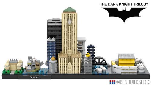 LEGO Gotham Skyline (The Dark Knight Trilogy)