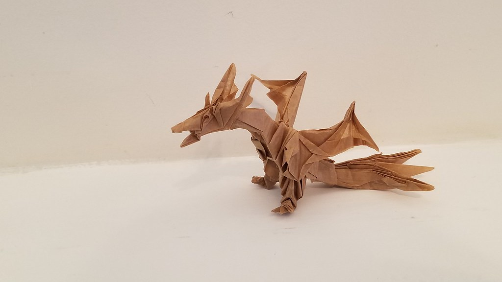 Origami Fiery Dragon (Official video tutorial by Kade Chan) 摺紙 ... | 576x1024