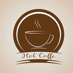 Hot Coffee minimal Logo design Ideas