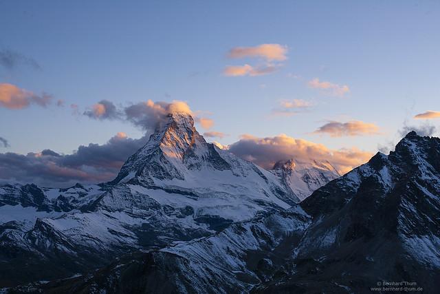 Last light at Matterhorn