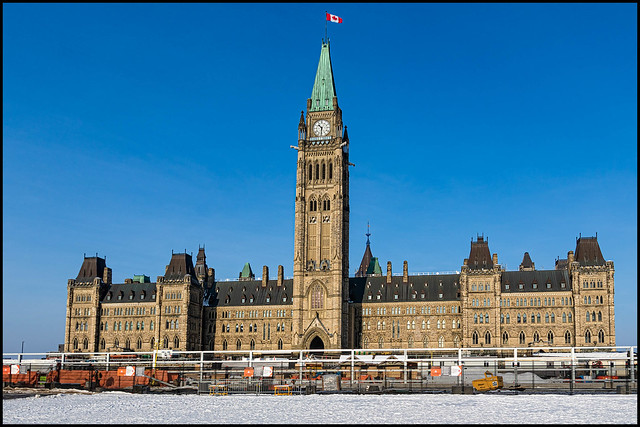 Parliament Buildings with Construction
