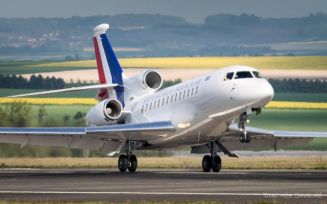 XCR   République Française Dassault Falcon 7X   F-RAFB