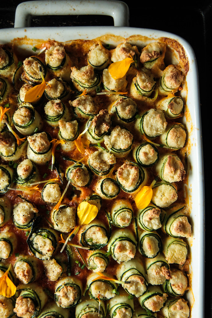 Zucchini Lasagna Rollups (Vegan and Gluten-free) from HeatherChristo.com