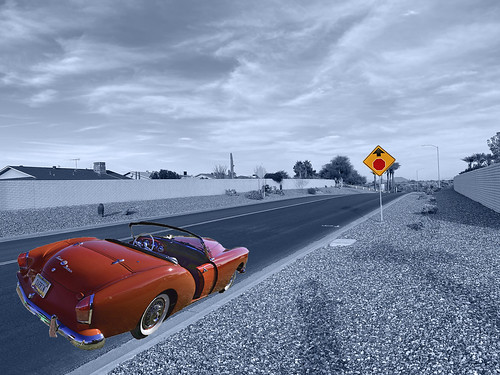 kaiserdarrin kaiser darrin suncitywest arizona car automobile scenery vista view sky clouds surreal