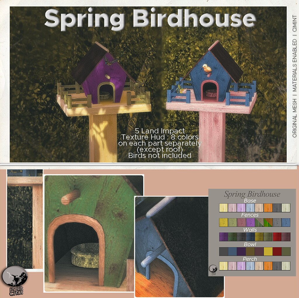 New release : Spring Birdhouse / Secret Sale Sundays