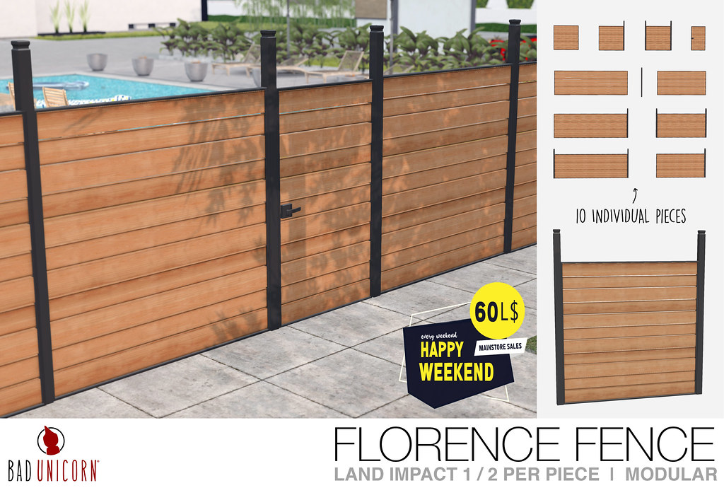 NEW! Florence Fence @ Bad Unicorn Mainstore