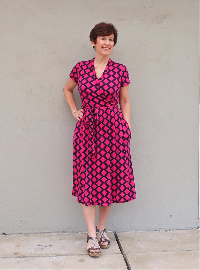 Pink wrap dress 7