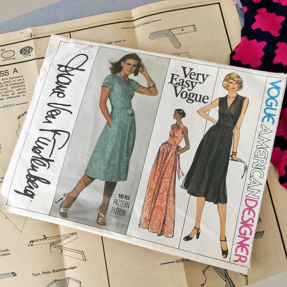 DVF wrap dress 4 pattern