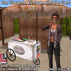 Ice Creams Vintage simple Cart