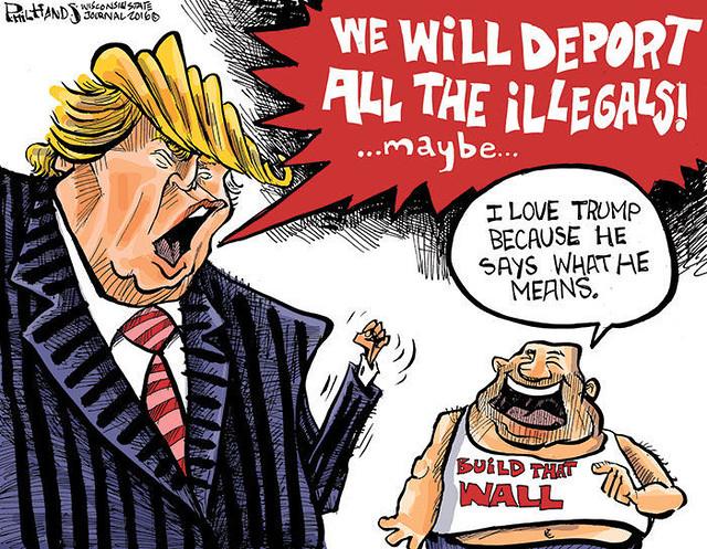 288 Trump cartoon Deport all the illegals