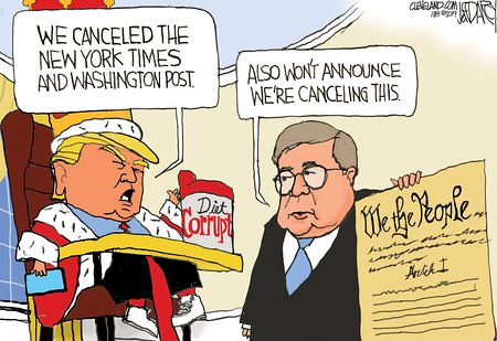 279 Trump Cartoon cancell the constitution