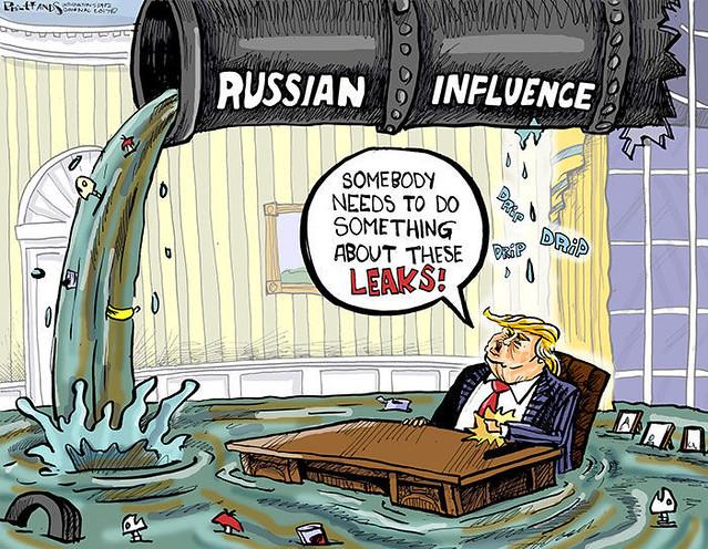 231 Trump cartoon  Russian Influence