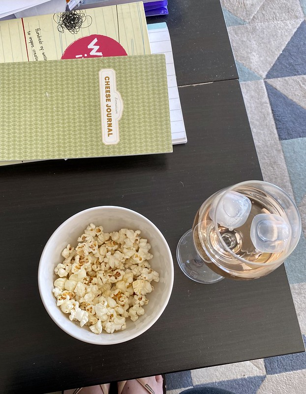 Popcorn and rosé