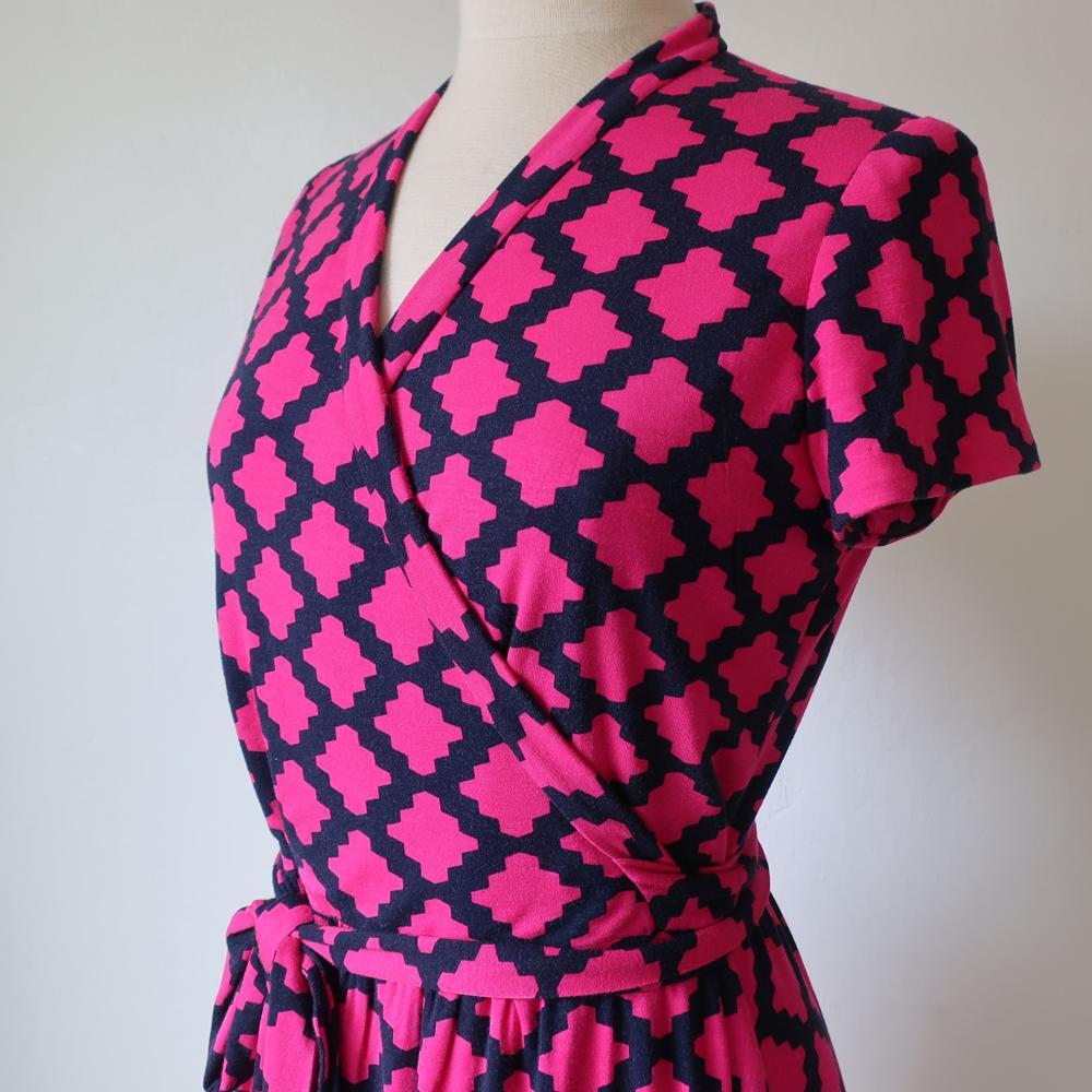Knit DVF dress bodice only on form