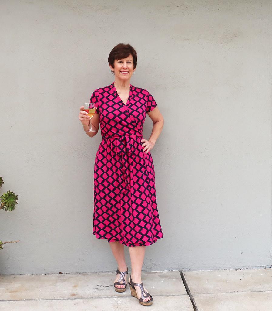 Pink wrap dress 6