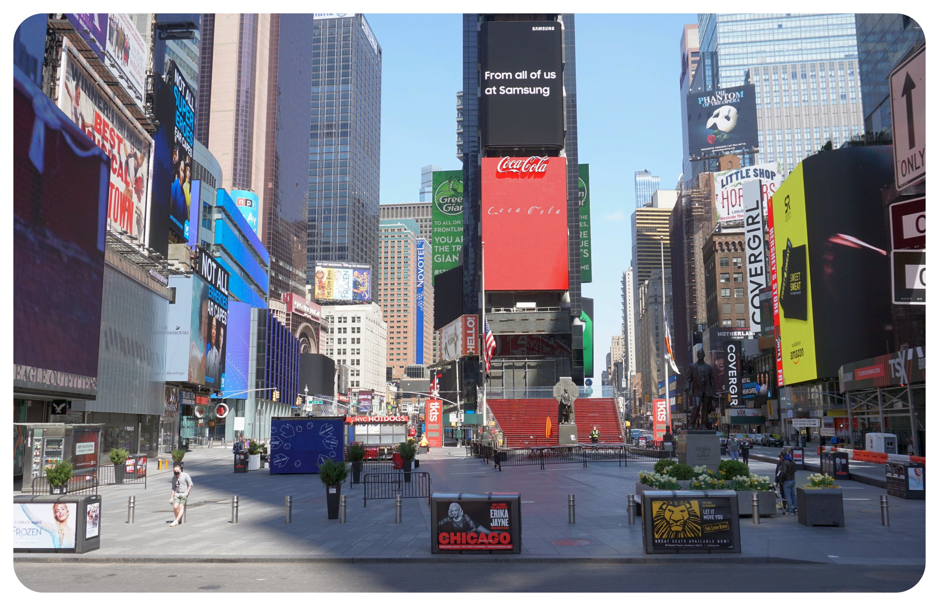 Times Square April 2020