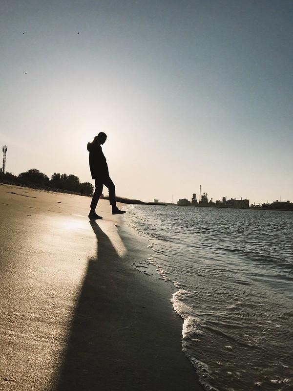 Playa en Linkeroever (Amberes)
