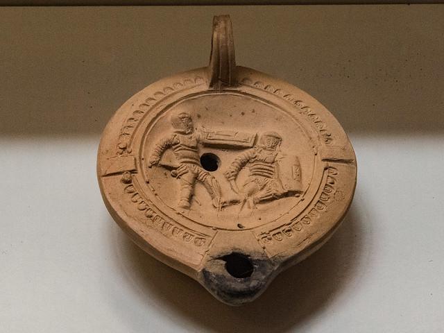 Roman Peloponnese V - Terracotta Oil Lamp