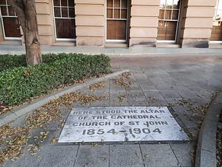 Spot of original St John's Cathedral
