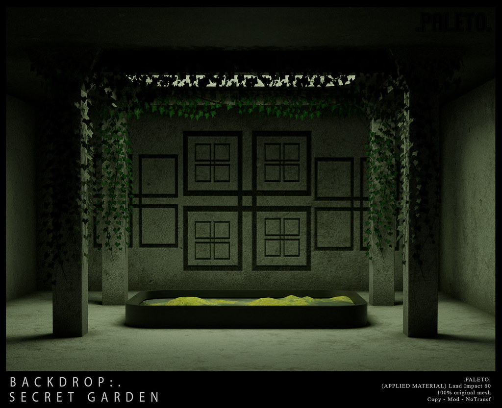 .PALETO. Backdrop:. Secret Garden