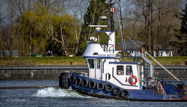 OCEAN BETTY  Tugboat - Pitt River, BC