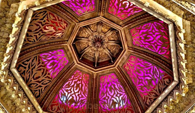 Vista interior da cúpula do Palácio  de Monserrate