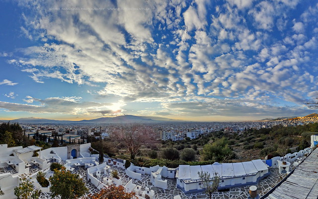 Brilliant skies over Athens.
