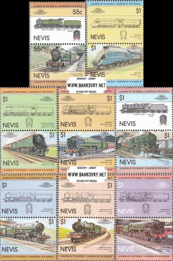 Známky Nevis 1983 Lokomotívy séria