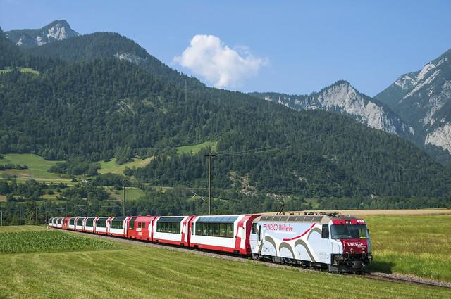 Rhb Ge 4/4 III 650 (Glacier Express) Bonaduz 14/07/2013
