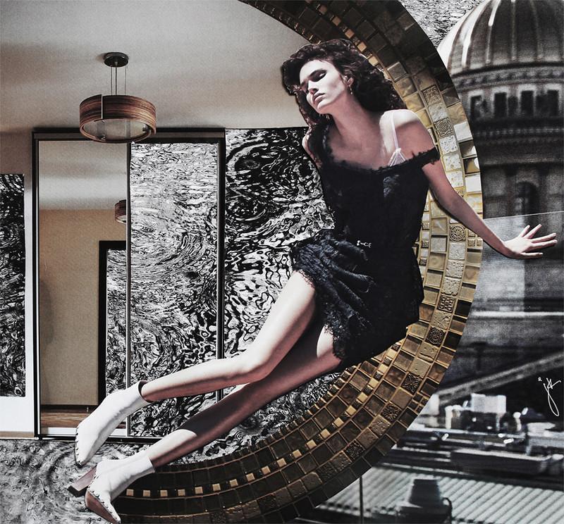 В ожидании дождя, Юлия Калмыкова (2016) Hand Made Collage