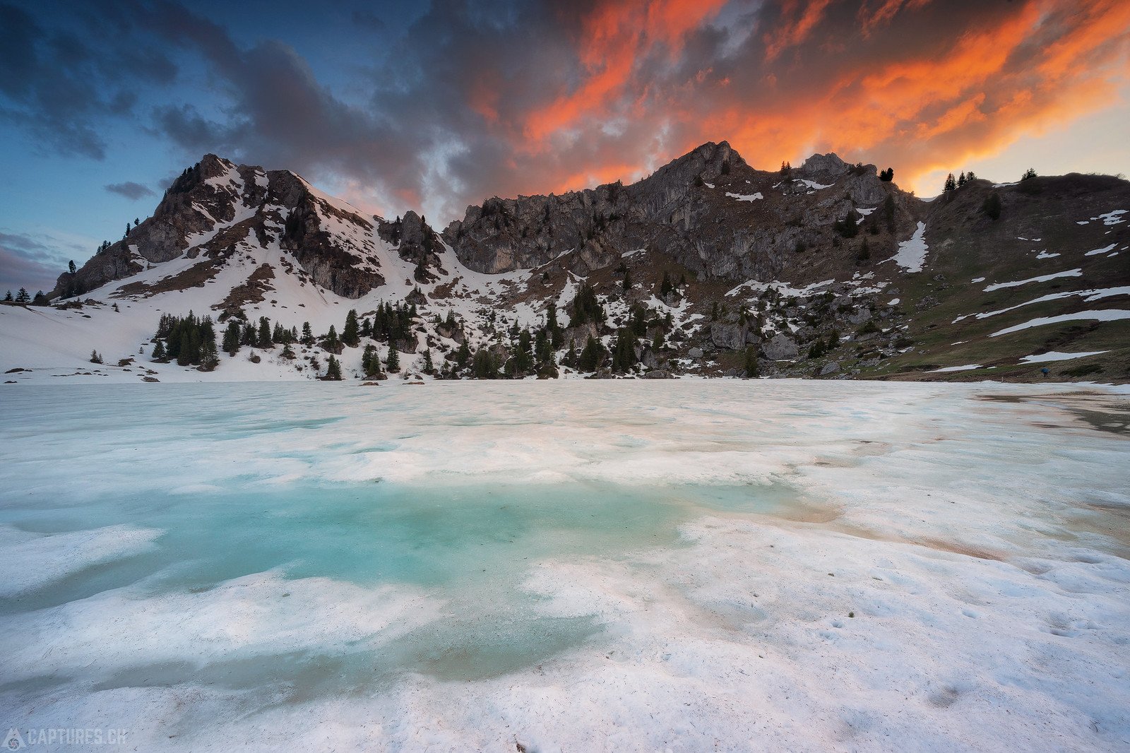 Sunset at the ice lake - Seebergsee