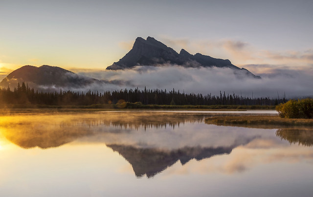 Morning Mist, Vermilion Lakes, Canadian Rockies