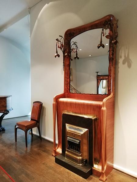 cheminée Art Nouveau