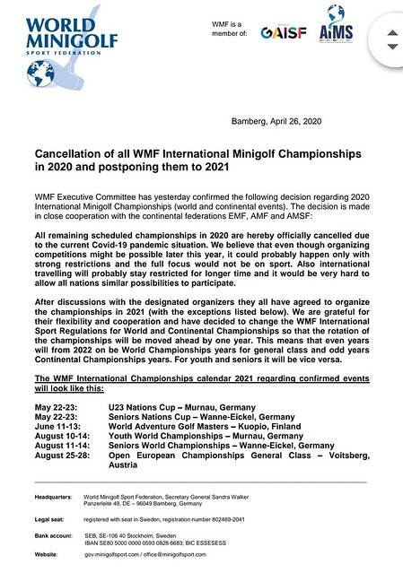 WMF Cancellation