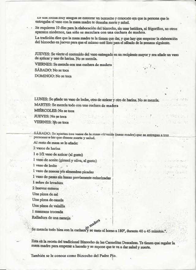 BizcochoCarmelitasDescalzas_PadrePio_RECETA